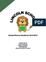 Student-parent Handbook 2014 Revised