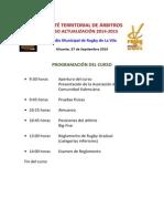 Curso Actualización Arbitraje Zona Sur 2014