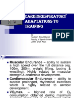 Topic 7 Cardiorespiratory Adaptations to Training