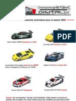 Liste Des Carros 2009 v2