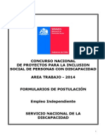 Formulario Proyectos Area Microemprendimientos