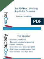 Apache Con PDF Box