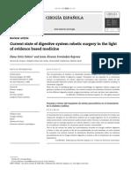 Estado Actual de La Cirugia Robotica en Cirugia Del Aparato Digestivo