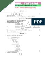 10th Mathematics Sa-1 Sol Sample Paper -2