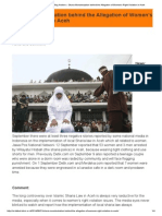 Sharia Monsterization Behind the Allegation of Women's Right Violation in Aceh