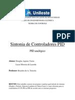 [Teoria de Controle] Projeto Sintonia de Controlador PID