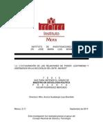 Rodríguez, Oscar - La Configuración de Las Relaciones de Poder. Legitimidad y Liderazgos en La Sección 20 Del SNTE, N