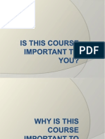 Is This Course Important