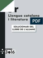 Llengua Catalana i Literatura 3r ESO Solucionari Llibre Alumne