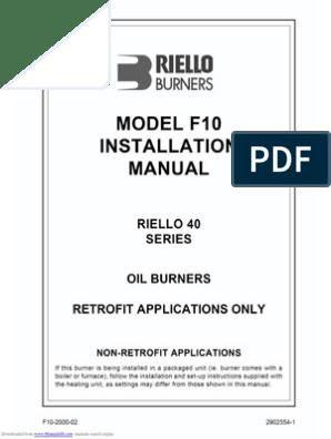 riello burner manual download