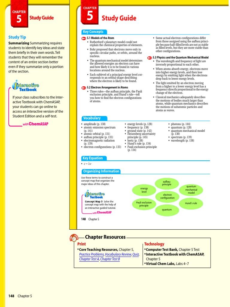 Chemistry Teacher Book Chapter 5.1 | Electron Configuration ...
