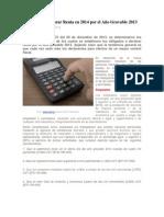 Obligados a Declarar Renta en 2014 Por El Año Gravable 2013