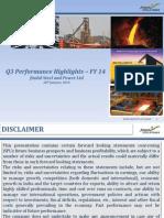 Presentation Q3 FY 13 14