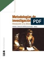 Metodologías de Investigación Social - Manuel Canales (Editor)