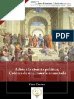 Adíos a la ciencia política