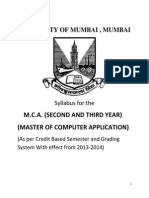 MCA Second and Third Year Syllabus Effect From 2013-2014