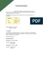 Pronombre Artc3adculo y Adjetivo