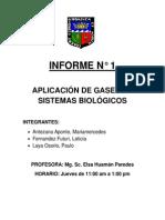 Aplicación de Gases en Sistemas Biológicos