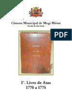 1º. Livro de Atas - 1770