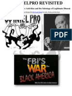 Cointelpro Revisited FBI Domestic Intelligence Activities