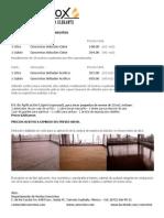 Concretox- Costos Productos