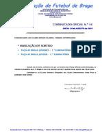 CO N.º 44 FUTEBOL 11_TAÇA AF BRAGA_JUNIORES E JUVENIS_MARCAÇÃO DE SORTEIOS.pdf