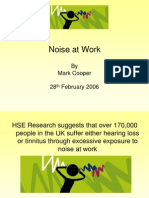 Control of Noise at Work Plus Vibration
