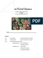 Learning Activities Packet- Puritan/Colonial