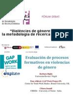 """""""Evaluación de procesos formativos en violencia de género"""""""
