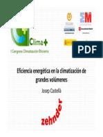 Zehnder Eficiencia Energetica Climatizacion Grandes Volumenes Congreso Climaplus 2011