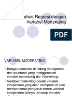 Analisis Regresi Dengan Variabel Moderating & Intervening