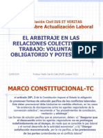Martin Carrillo - Análisis de Los Tipos de Arbitraje Laboral, Voluntario, Potestativo y Obligatorio.