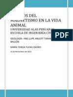 Efectos Del Magnetismo en La Vida Animal