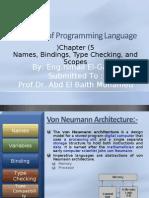 Sebesta - Programming Languages - Chapter5