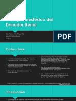 Manejo Anestésico del Donador Renal.pptx