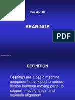 Session III Bearings
