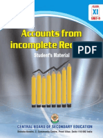 Accounting for Incomplete Accounting Records