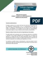 Unidad 1 Auditoria a La Administración de Sistemas de Información
