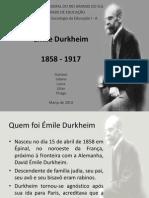 Apresentação Durkheim