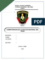 Monografia de Competencias de La Policía Nacional Del Perú