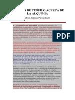 Estudios de Teófilo Acerca de La Alquimia