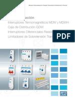 WEG Interruptores Mdw Dwp Rdw Siw Spw 50022713 Catalogo Espanol