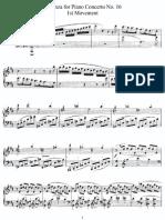 Mozart Piano Concerto 16. Cadenzas