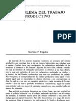 El problema del trabajo productivo