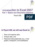 Lab 4 Excel Basics