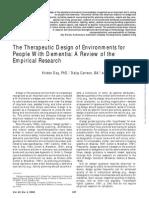 Envieronmental Design for Dementia