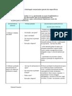 ACTIVIDADE – distinguir enunciados gerais de específicos