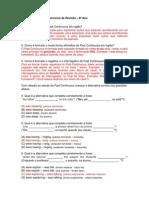 Estudo Dirigido - Past Continuous (Revisão)