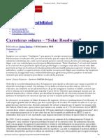 """Carreteras Solares – """"Solar Roadways"""""""