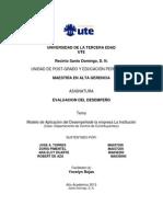 Evaluacion de Desenpeños Trabajo Final (5ta.)